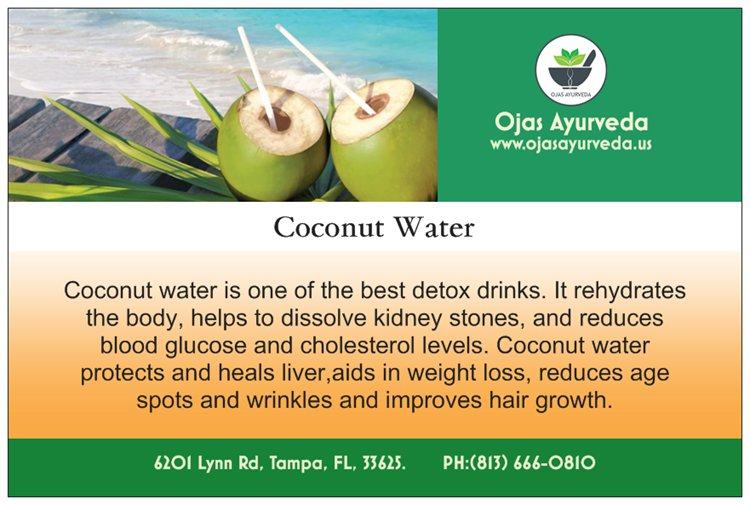 Coconut Water - the best detox drink