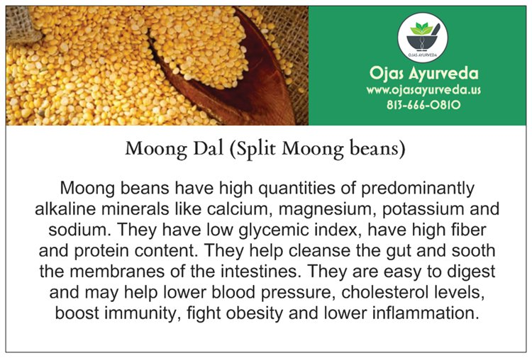 Moong Dal - high fiber and protein